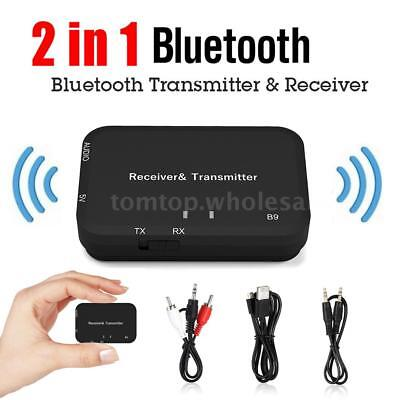 2In1 Bluetooth Audio Transmitter &Receiver Home Stereo Adapter for TV Headphone