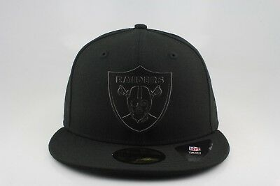 f21a91fe2b3 OAKLAND RAIDERS NEW Era 59Fifty Fitted Hat Custom Metal Emblem ...