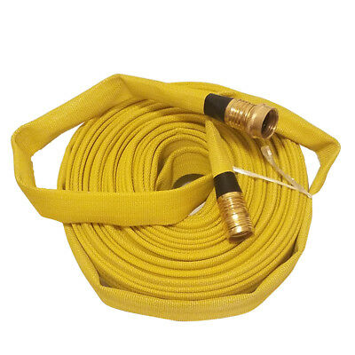 High-Quality Flexible Lining Nbr Fire Hose, 3/4In. X 50 Ft., Yellow, 250 Psi