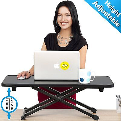 Height Adjustable Standing Desk Monitor Riser Office Furniture Table TV Stand