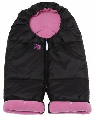 NWT stroller footmuff baby car seat bunting bag combi zip red castle Pink/Black