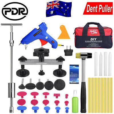 PDR Paintless Dent Puller Lifter Hammer Hail Removal Glue Gun Repair Tools Kits