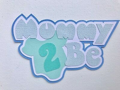 Fully assembled 'Mummy 2 Be' scrapbook title