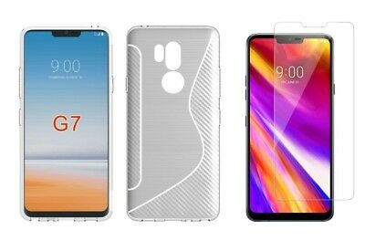 CLEAR S-LINE TPU CASE+ CLEAR SCREEN PROTECTOR FOR LG G7 ThinQ