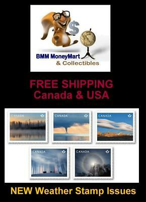 NEW RELEASE 2018 CANADA ~ All 5 Issues WEATHER Stamps MNH ~Release July 26, 2018