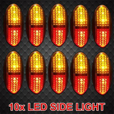 10X 12V 24V Side Marker DC Amber Red Clearance Lights LED Trailer Truck AUBI