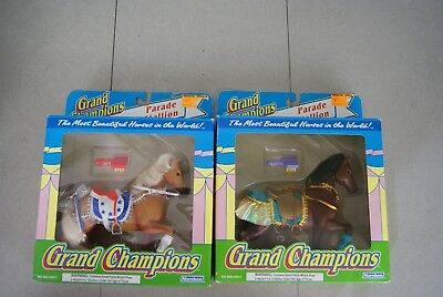Pair of Vtg 1993 Marchon Grand Champions Toy Parade Stallions MIP (2) lot