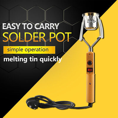 180W/280W Electric Portable Lead Melting Pot Solder Furnace Casting Heads Tin