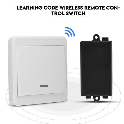 220V 1CH 433MHz Wireless Remote Control Relay Switch with Double-sided Stickers