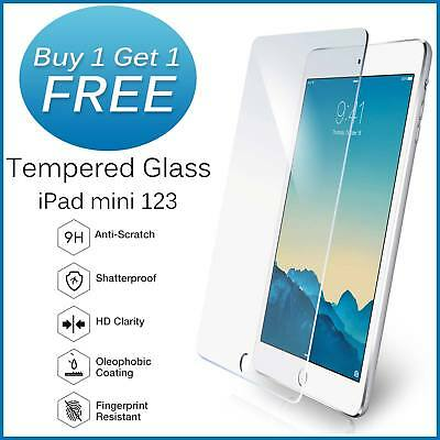 Real Tempered Glass Film Screen Protector For Apple iPad Mini 1/2/3 BOGOF OFFER