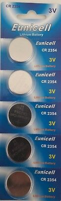 EUNICELL 5 piles  plates CR2354 3V Lithium sans raynure d'approfondissement