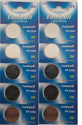 EUNICELL 10 piles  plates CR2354 3V Lithium sans raynure d'approfondissement
