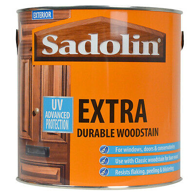 Sadolin Extra Durable Woodstain || 2.5 & 5 LITRES || ALL COLOURS AVAILABLE
