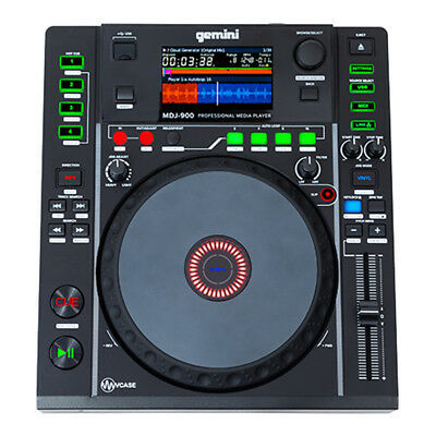 Gemini Mdj-900 Pro Dj Media Turntable Deck With Usb/mp3 And Midi Control