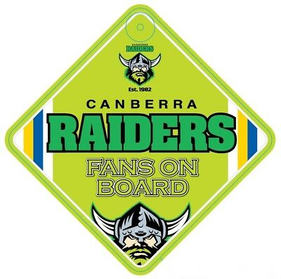 Canberra Raiders NRL Team Supporters Car Sign * Fans on Board