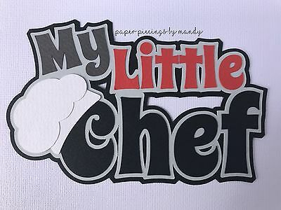 Fully assembled 'My Little Chef' red scrapbook title