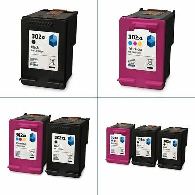 HP 302 XL Ink Cartridges - Black and Colour - Remanufactured for HP Printers