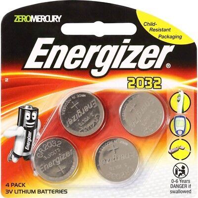 Energizer 2032 / CR2032 battery 4pk - 3v lithium batteries