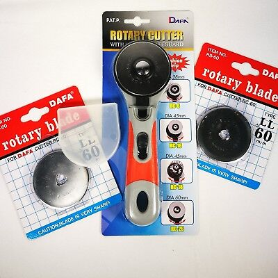 Rotary Cutter 60mm Fabric Cutter with Extra Blades