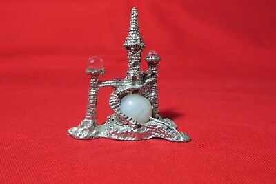 Pewter Fantasy Castle With Crystals