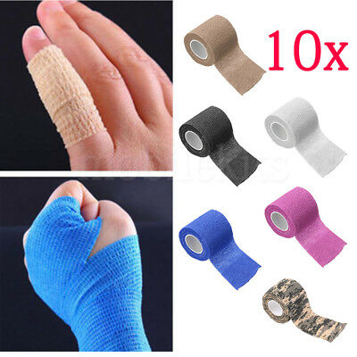 10xSport Elastic Self Adhesive Wrist Finger Bandage Tape First Aid Strap Band LK