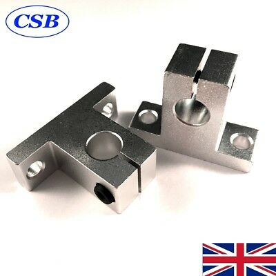 4x SK10  10mm Linear Rail, Smooth Rod Support