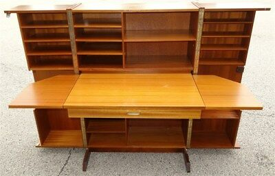 1960s Glasdam Jensen Mid-Century Danish Modern Teak Folding Desk * AS IS