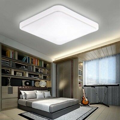 Bright Square LED Ceiling Down Light Panel Wall Kitchen Bathroom Lamp White