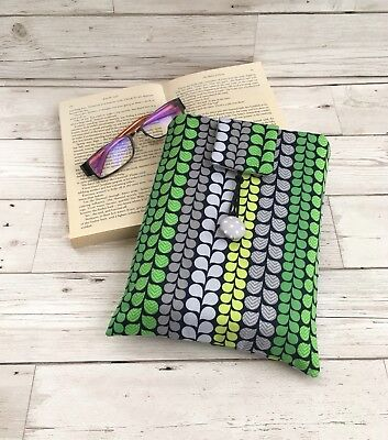 Handmade Book Sleeve, Fabric Book Cover, Book Lover Teacher Gift, Holiday Gift