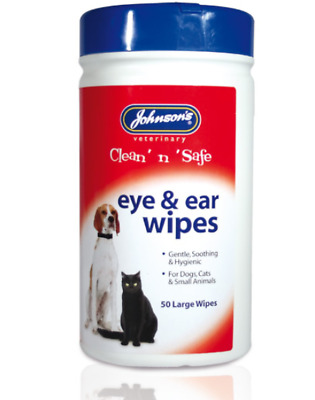Johnsons Clean 'n' Safe Eye & Ear Wipes - Pet - Dogs, Cats, Small Animals