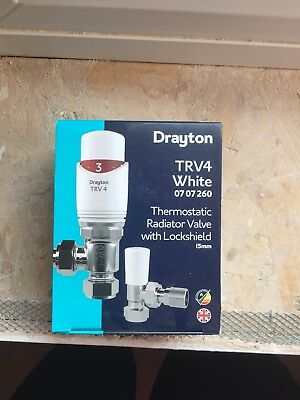 Drayton Thermostatic Radiator Valve TRV4 White with Lockshield