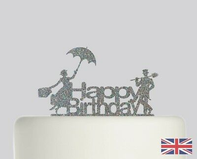 Mary Poppins Bert Birthday Cake topper Acrylic Glitter cake Decoration.201
