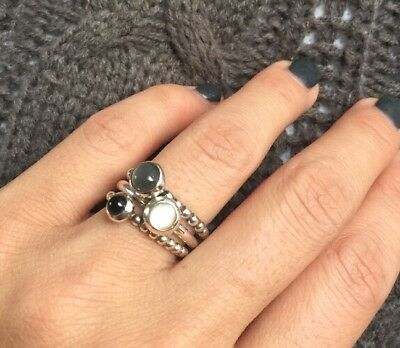 5504a7f53 PANDORA STERLING SILVER Stackable Rings Size 6- ALL 3! - $59.00 ...