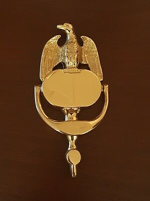 "Vintage Brass American Eagle Door Knocker Small 8"" x 3"""