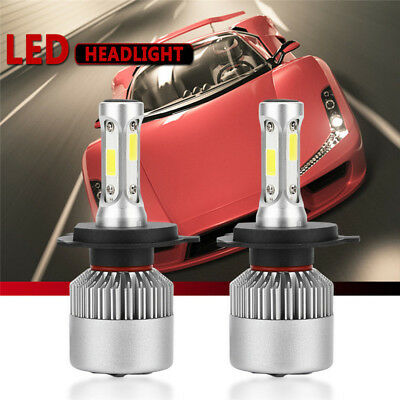 H4/ 9003/ HB2 200W 8000LM COB LED Headlight Bulbs Kit Hi/Low Beam 6000K-6500K CH