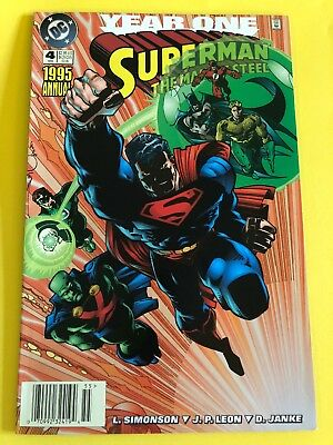 1995 Annual Superman The Man Of Steel # 4 NM condition