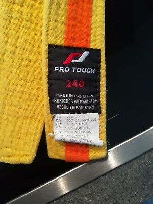 Judogürtel gelb orange Pro Touch 240