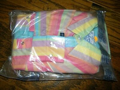Girls Rockmount Ranch Buckaroos Multi Color Button Up Shirt Size M NWT Oversized