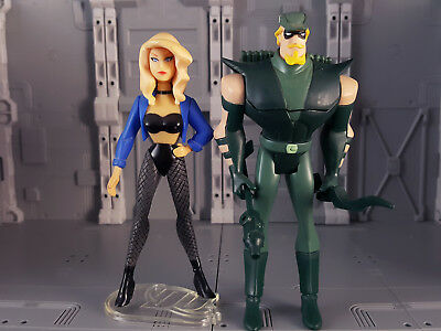 JLU Black Canary and Green Arrow Fishnet Justice League Unlimited Mattel DC