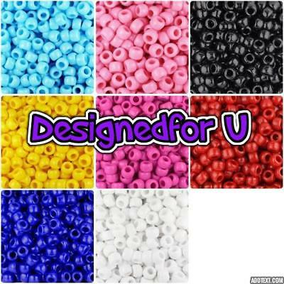 *3 FOR 2*   100 9x6mm Opaque Barrel Highest Amazing Quality Pony Beads