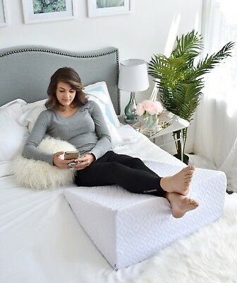 Bed Wedge Pillow - Orthopedic Pillow for Acid Reflux & Pain Elevating Leg Rest