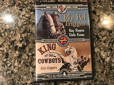 My Pal Trigger/King Of The Cowboys Dvd! 1946/1943 Western Action!