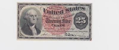 1862 25 Cents Fractional Currency - F - 1302 - George Washington