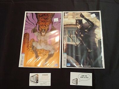 Catwoman #1 Variant AND Batman #50 Variant dc comics bagged and boarded