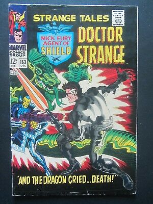 STRANGE TALES #163 vg STERANKO-cover/art/story Marvel Silver Age 1 book lot