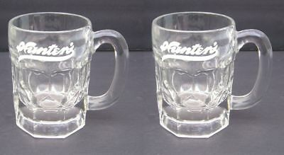 Vtg Hunters Root Beer Soda Syrup Fountain Glass Mugs SET/2 (2 sets Available)