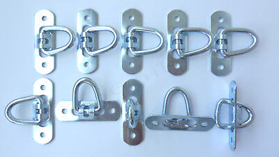 10x Tie Down Lashing Ring for Awning Tarp Load Securing Steel Hook Truck Trailer