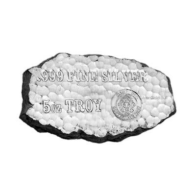 5 oz Scottsdale Mint Tombstone Nugget Silver Bar