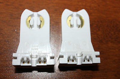 2 Leviton-Fluorescent-Lamp-Holder-T-8-T-12-Light-Socket-G13-Base-660W 600V