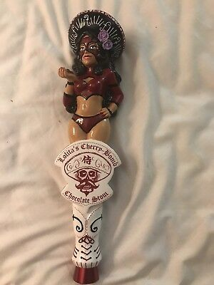 NIB , Very Rare Figural Lolita's Cherry Bomb Chocolate Stout Beer Tap Handle